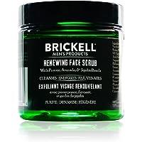 Brickell Men's Zuiverende Gezichtsscrub voor Mannen, Natuurlijke en Organische Diepe Reiniging, Gezichtsscrub met Jojoba…