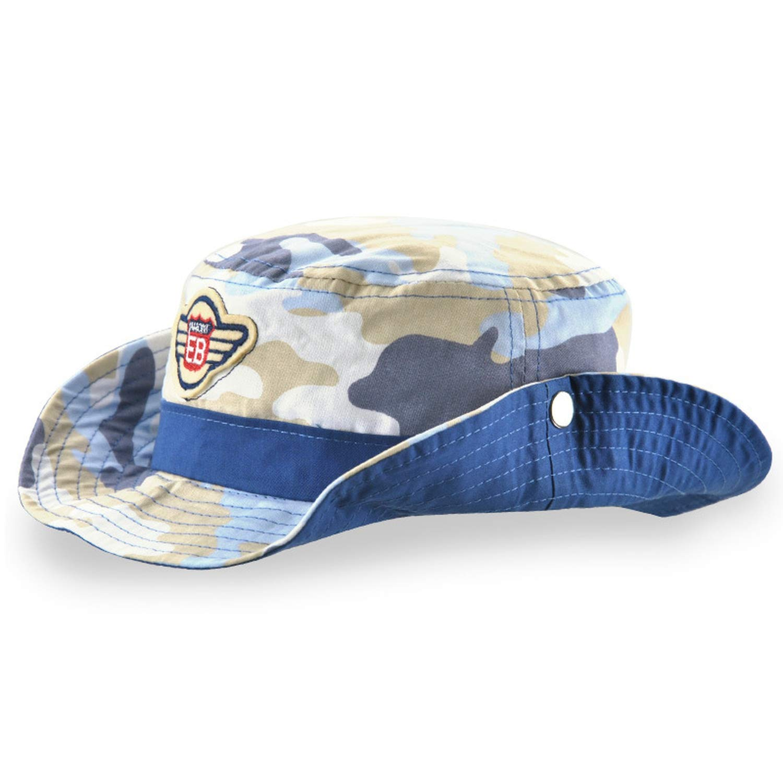HEWPASKE Childrens Hat Boy Girl Cap Summer Kids Panama Camouflage Cowboy Hats Cotton Bucket Hat Casquette Gorras