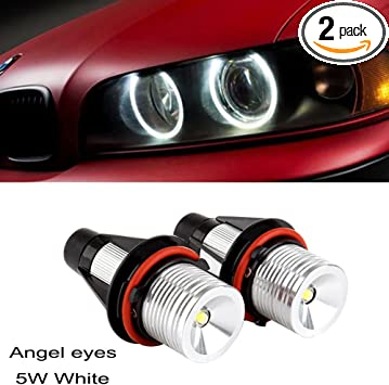 BMW E46 E90 E91 E87 E53 UPGRADE XENON WHITE SIDE LIGHT CREE LED BULBS NO ERRORS