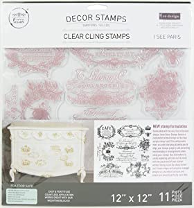 Prima Marketing Re-Design Decor Clear Cling Stamps I See Paris 12
