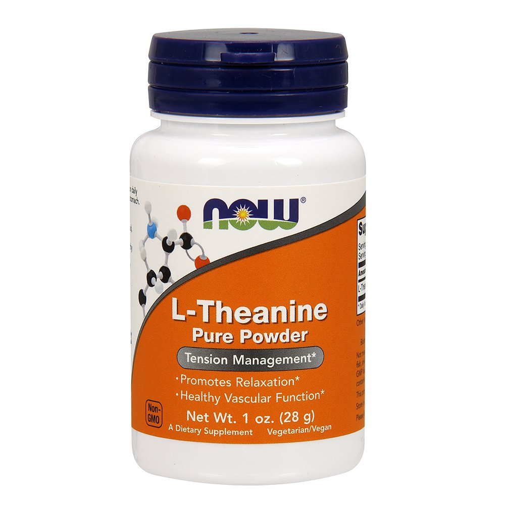 Now Supplements, L-Theanine Pure Powder, 1-Ounce by NOW Foods