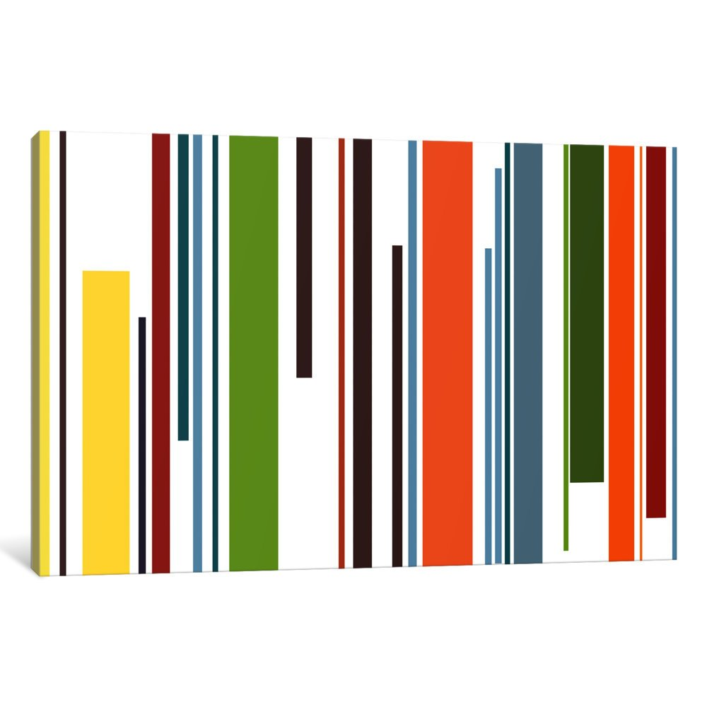 iCanvasART 3-Piece Pastel Piano Keys Canvas Print by Fabrizio 1.5 by 60 by 40-Inch