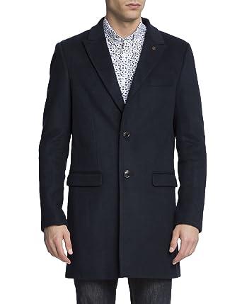 99fdee1b516c SCOTCH AND SODA - Coats - Men - Navy Blue Blend Classic Wool Coat ...