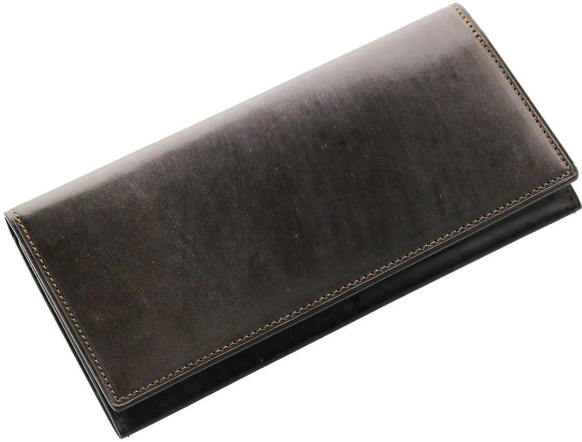 [ PRAIRIE ] メンズ 長財布 ブライドル牛革 レザー 本革 紙幣入れ 束入れ 英国製 B071WJZ4T5  ダークブラウン