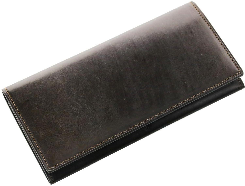 [ PRAIRIE ] メンズ 長財布 ブライドル牛革 レザー 本革 紙幣入れ 束入れ 英国製 B071WJZ4T5ダークブラウン