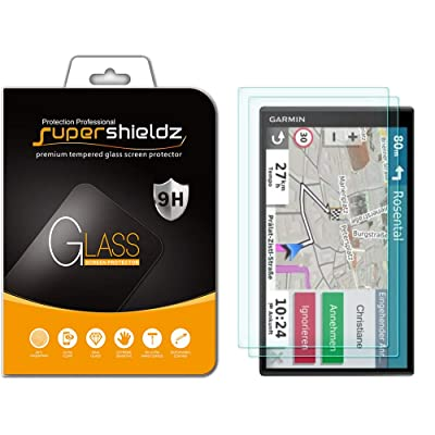 (2 Pack) Supershieldz for Garmin DriveSmart 65 Tempered Glass Screen Protector, Anti Scratch, Bubble Free: GPS & Navigation