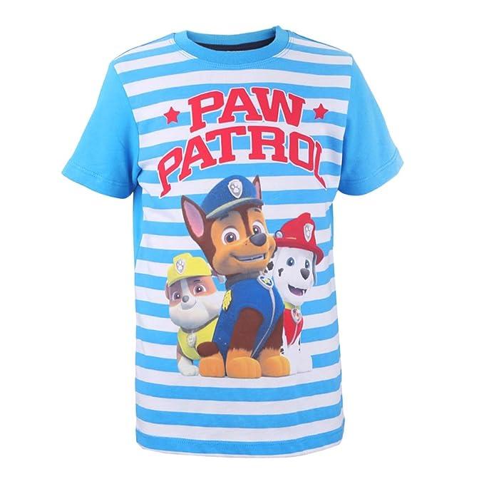 LA PATRULLA CANINA, Paw Patrol Niños Camiseta, T-Shirt, azul ...