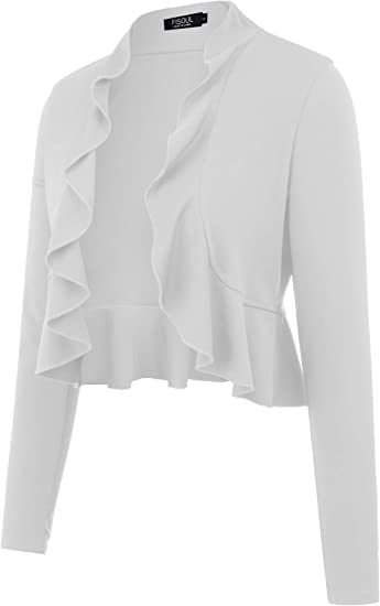 AAMILIFE Womens 34 Sleeve Cropped Cardigans Sweaters
