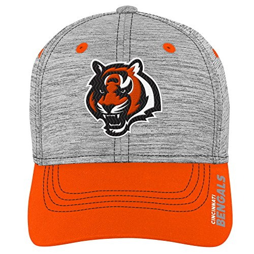 Outerstuff NFL NFL Cincinnati Bengals Youth Boys Velocity Structured Flex Hat Heather Grey, Youth One Size ()
