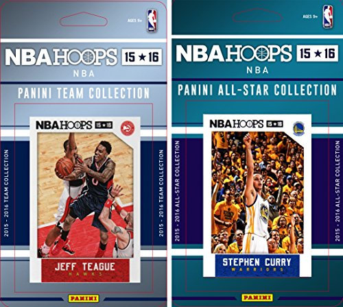 NBA Atlanta Hawks Licensed 2015-16 Hoops Team Plus All-Star Trading Card Set ()