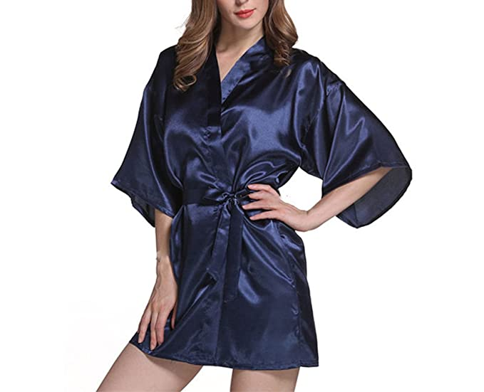 Asrlet Womens Sexy Silk Satin Robes Sleep Dress Kimono Nightwear Babydoll Sleepwear Bathrobe at Amazon Womens Clothing store: