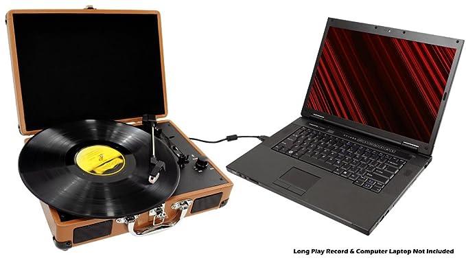 Pyle PVTT2UWD - Tocadiscos de Estilo Retro (con Correa, USB ...