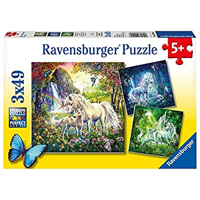 Ravensburger Beautiful Unicorns Jigsaw Puzzle (3 x 49 Piece): Toys & Games