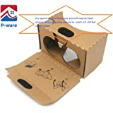P-Ware Google Cardboard V2 ,VR 3d glasses,Google cardboard with Headband Fit , fit for google cardboard iphone 6 and all size Mobile Smartphone,Google Cardboard with QR Code Phone