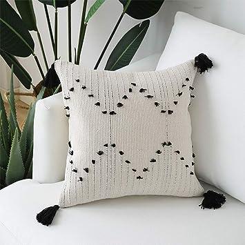 Amazon.com: Tassels Boho - Funda de almohada cuadrada ...