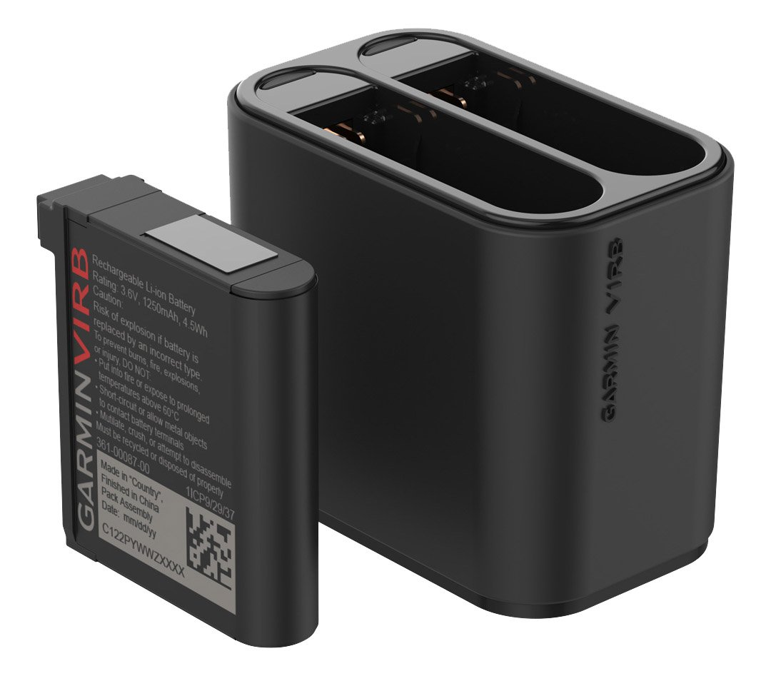 Garmin Virb Ultra Kit Dual Travel Charger and Battery, Black