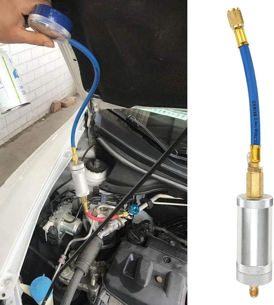 Aire Acondicionado automotriz Tubo de llenado de refrigerante Herramienta de inyecci/ón UV05 Jimfoty Jeringa de Tinte de Aceite R134A R12 R22 Engrasador Manual A//C Inyector de Aceite