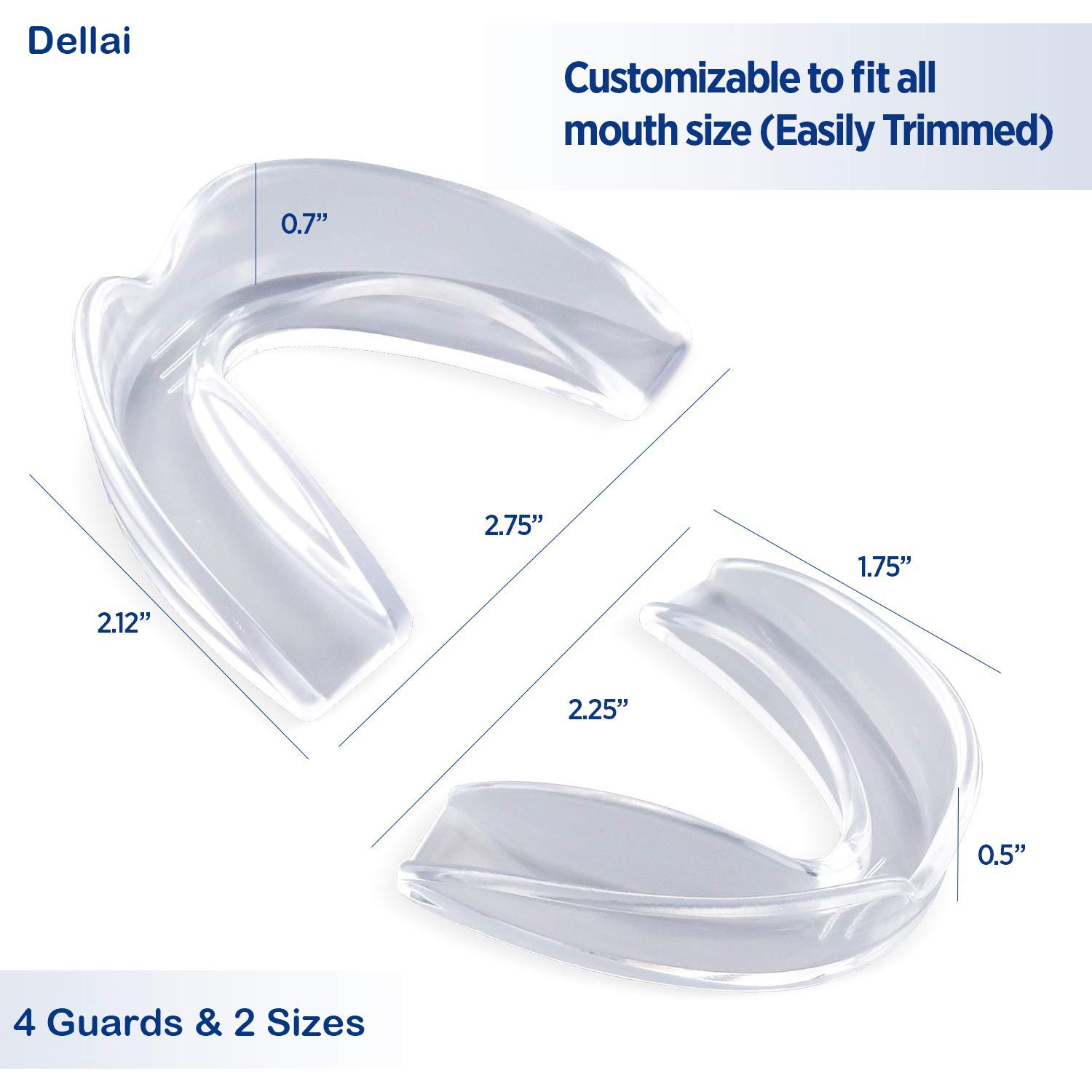 Mouth guard for grinding teeth, Lab Professional Moldable Dental Guard, Medical Silicone Mouth Night Guards, Moldable Dental Night Guards for teeth grinding, BPA Latex Free, FDA Approved
