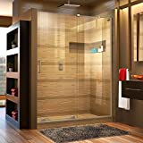 DreamLine Mirage-X 56-60 in. Width, Frameless Sliding Shower Door, 3/8'' Glass, Brushed Nickel Finish
