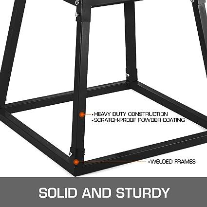 Casnuova Plyo Box - Set de Ejercicios Plyo Box para Saltar, Plataforma Crossfit y Entrenamiento pliométrico, combinación de Cuatro Piezas, Color Negro: Amazon.es: Deportes y aire libre