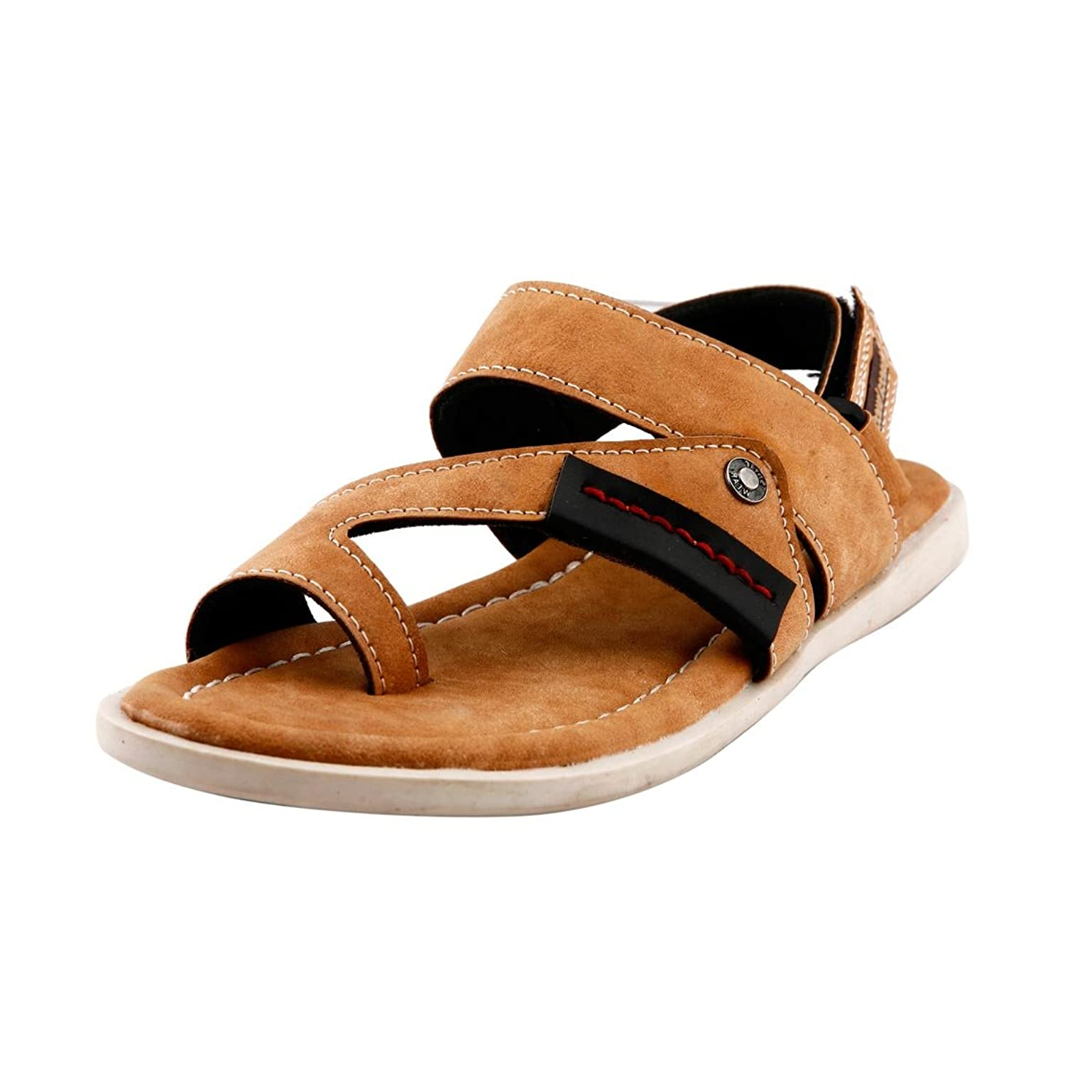 Bacca Bucci Men's Bbme6006D Tan Leather Casual Sandals