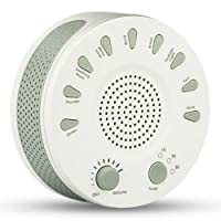 White Noise Sound Machine PLUS 8 Soothing Nature Sounds including Ocean Waves, Rain, Thunder Storm, Summer Night - Sleep Therapy - Improved Concentration and Relaxation - Tune Out Environmental Noises - Better Sleep for Adults, Children and Babies.