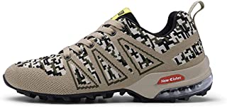 HRN Chaussures de randonnée pour Hommes, Coussins d'air, Chaussures de Sport à Absorption des Chocs, Chaussures de Marche décontractées, Lacets, Tourisme en Plein air, Automne et Hiver