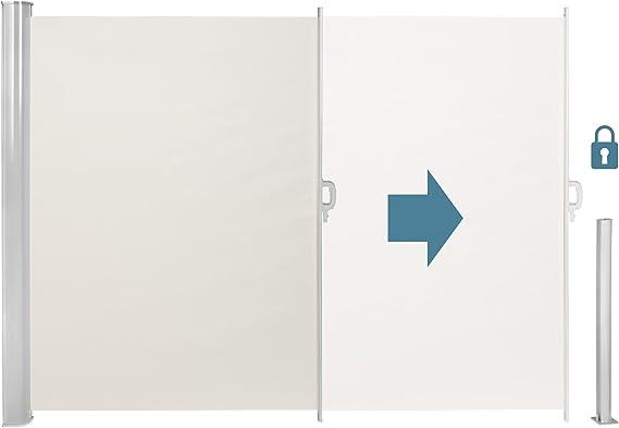 TecTake Toldo Lateral de Aluminio Separador retráctil terraza protección De Vivienda y de Base Postes Completo de Aluminio Varias tamaños - (Beige | 160x300cm | no. 401526): Amazon.es: Hogar