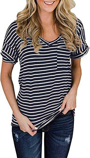 Camisetas para Hacer Deporte Mujer Camiseta con Cuello en v ...
