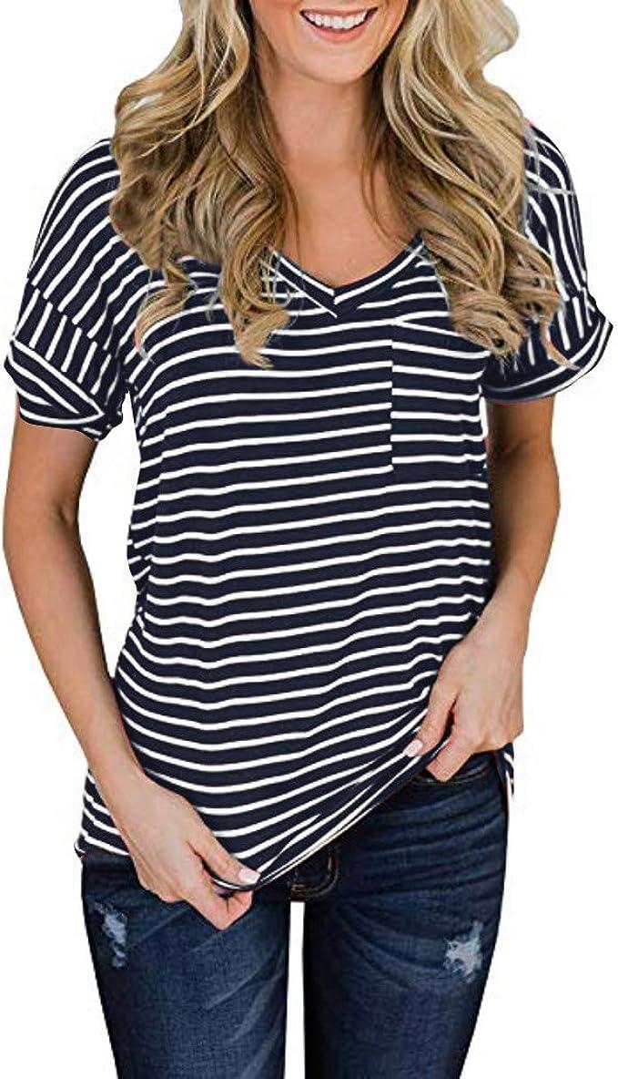 Camisetas para Hacer Deporte Mujer Camiseta con Cuello en ...
