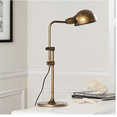 Guo Antique Cuivre Lampe De Table Chambre A Coucher Chevet