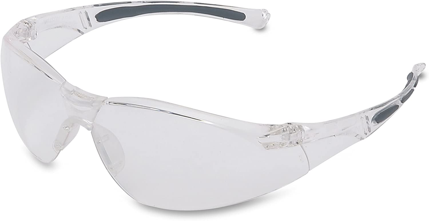 Honeywell 1015370 A800 Sporty Safety Eyewear Frame with Clear Anti-Scratch Lens - Translucent