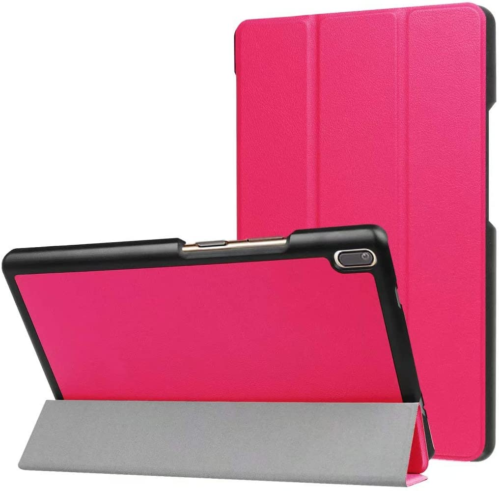 for Lenovo Tab 4 8 Plus TB-8704V 8704V Tablet Cover, Ultra Slim Lightweight Folio Stand Leather Case for Lenovo Tab XiaoXin Small 8.0 TB-8804F 8804F TB-8804N 8804X 8 (Peach Red)