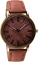 Clearance! Charberry Mens Watch Retro Vogue Cowboy Leather Band Analog Quartz Watch
