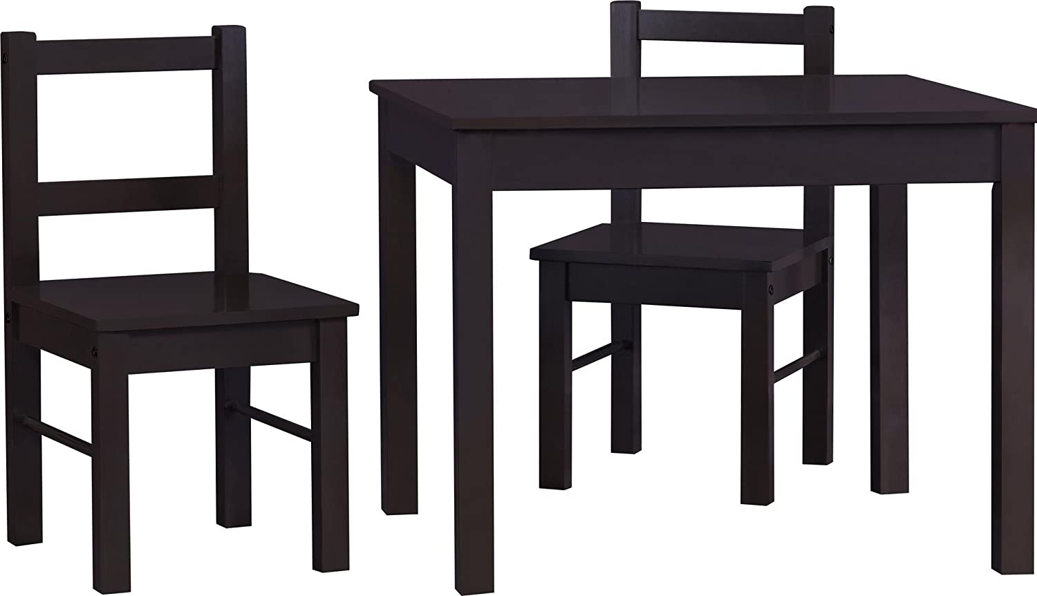 Ameriwood Home Hazel Kid's Table and Chairs Set, Espresso Dorel Home Furnishings 5827396PCOM