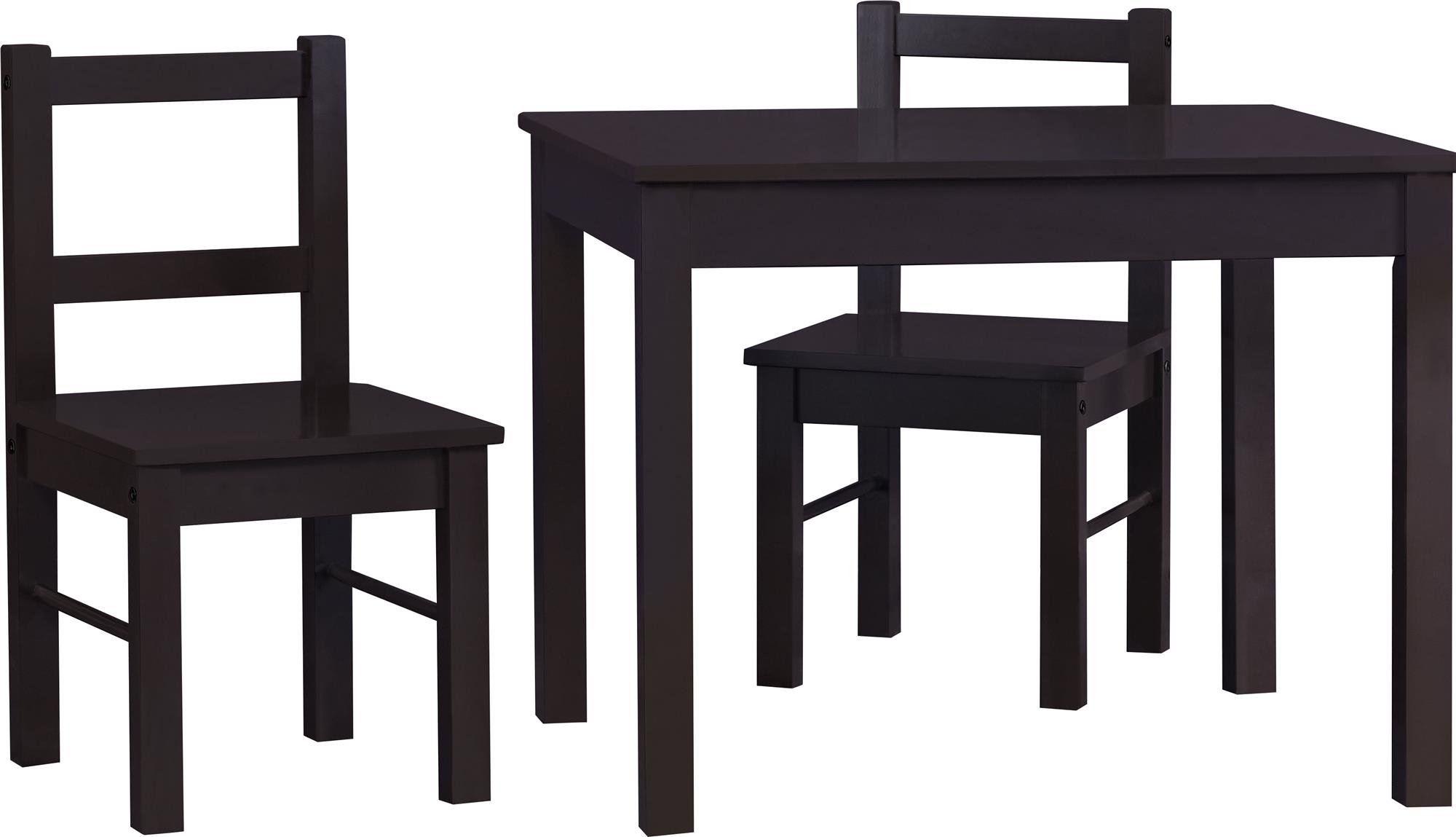 Ameriwood Home Hazel Kid's Table and Chairs Set, Espresso by Cosco
