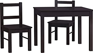 Ameriwood Home Hazel Kid's Table and Chairs Set, Espresso