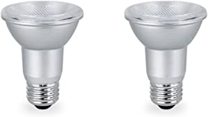 LED PAR20 Dimmable Flood Light Bulb, 7 Watt (50W Equivalent), 500 Lumens, 3000k Soft White, 120V, Indoor/Outdoor, Energy Star Certified, UL Listed (2 Pack)