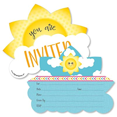 You are My Sunshine - Shaped Fill-in Invitations - Baby Shower or Birthday Party Invitation Cards with Envelopes - Set of 12: Toys & Games