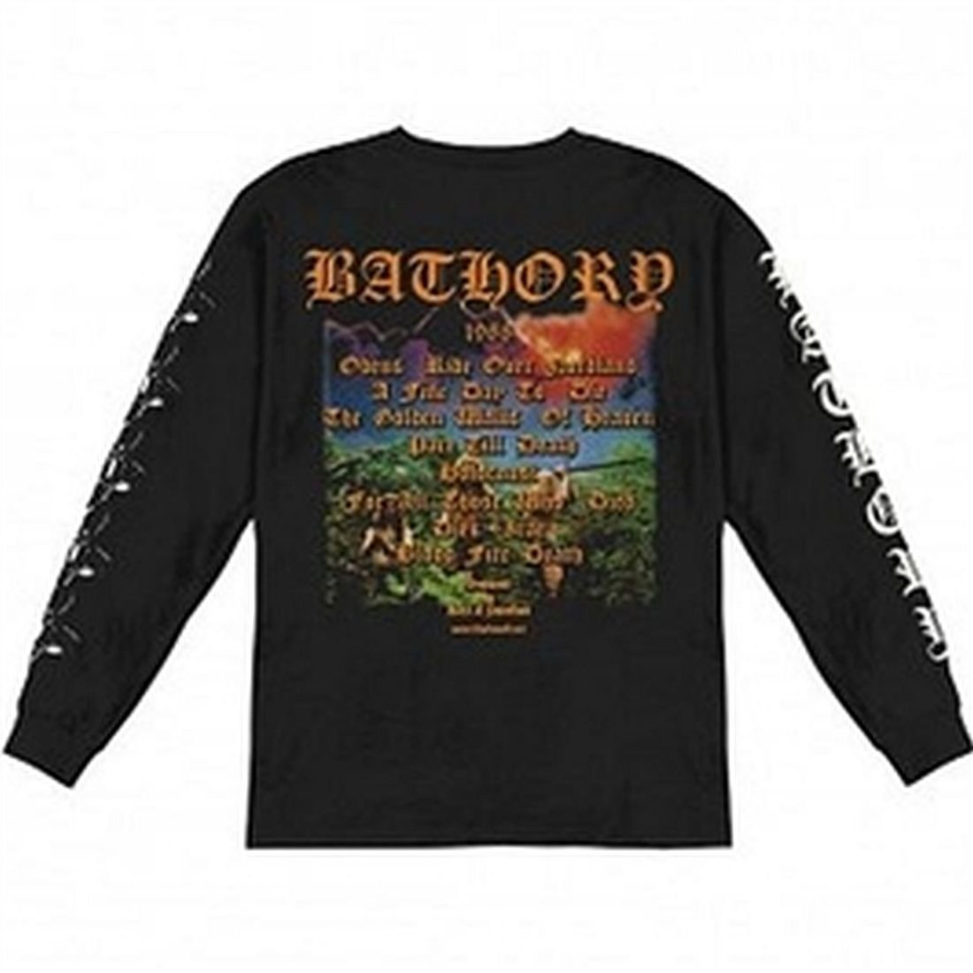 Amazon.com: Bathory - Blood Fire Death Long Sleeve T-Shirt (Small): Clothing