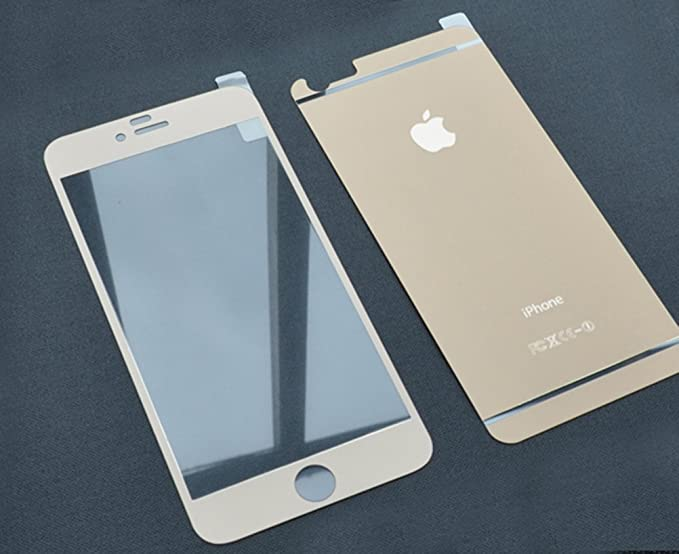 Kapa Matte Finish Front + Back Tempered Glass Screen Protector for Apple iPhone 6 Plus / 6S Plus   Gold Screen guards