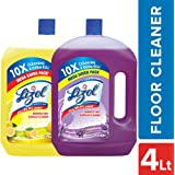 Lizol Disinfectant Floor Cleaner - 2 L (Citrus) with Lizol Disinfectant Floor Cleaner - 2 L (Lavender)