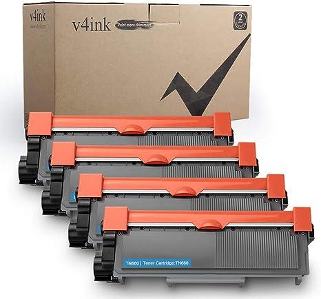 V4INK 4-Pack nuevo Compatible con Brother TN630 TN660 cartucho de ...