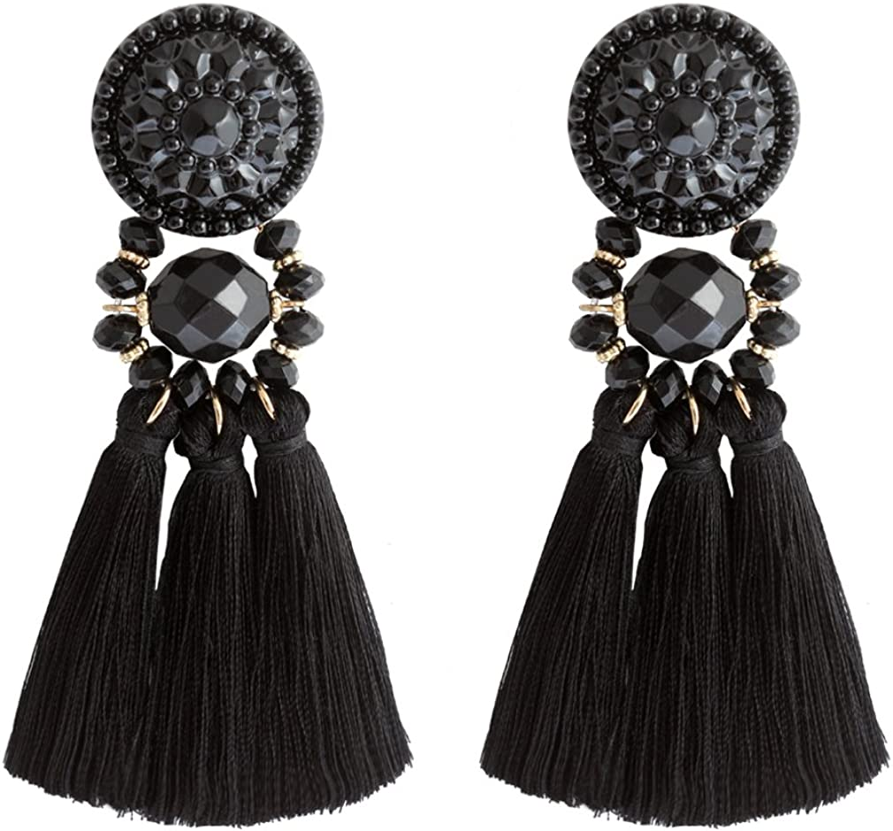 Boho Leaf Drop Dangle Earrings Statement Ear Studs Womens Charm Jewelry /_pr
