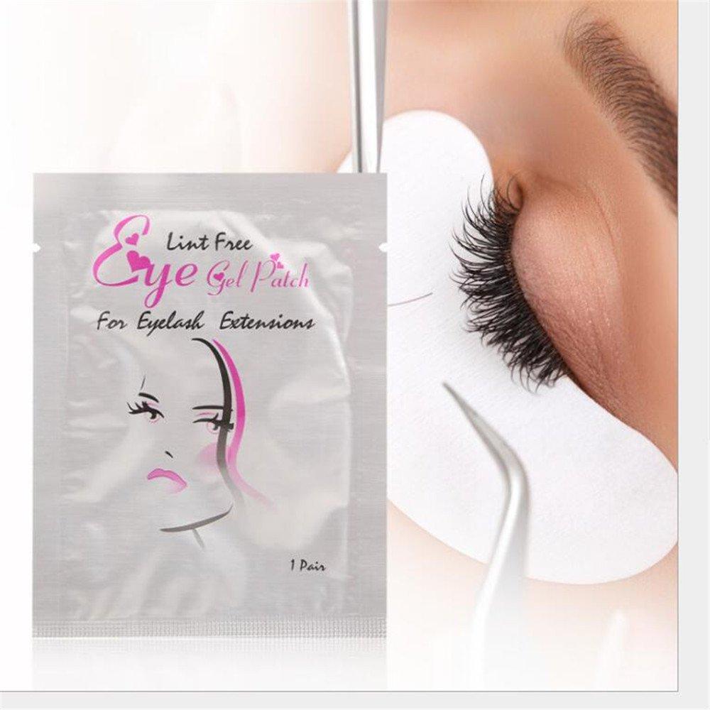 50 Pairs Set, Eye Gel Patches, Under Eye Pads Lint Free Lash Extension Eye Gel Patches for Eyelash Extension Eye Mask Beauty Tool (50) Langking