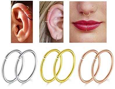 Buy Amejewe Nose Rings With Piercing Nose Piercing Jewellery Nose
