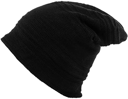 Adult Plain Summer Ribbed Slouchy Cable Hat Slouch Beanie Slouchie Cotton Hats