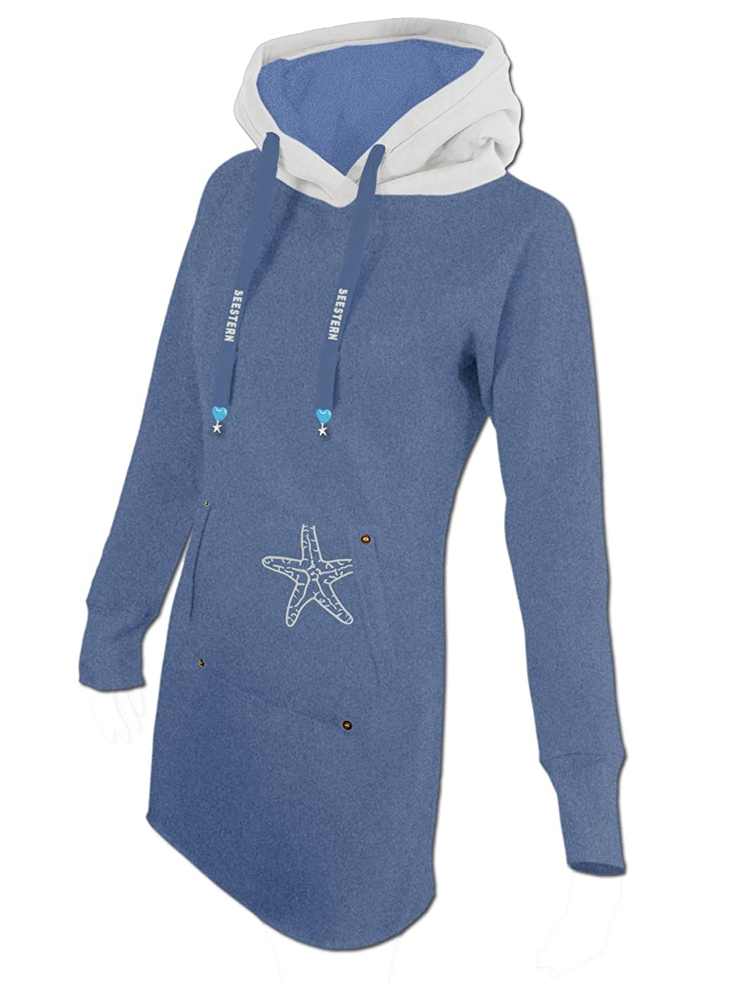 SEESTERN Damen Kapuzen Sweat Shirt Jacke Pullover Zip Hoody Sweater Gr.XS-3XL