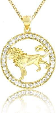 collier lion femme
