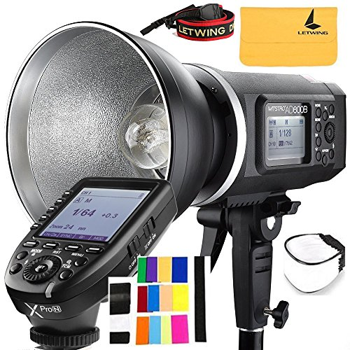 Godox AD600B TTL Bowen Mount GN87 600W HSS 1 / 8000s 2.4G Wireless with 8700mAh Lithium Battery Outdoor Studio Strobe Flash,Godox XPro-N Flash Trigger for Nikon DSLR Camera by Godox (Image #9)